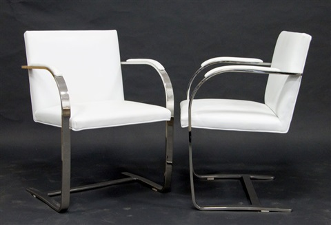 brno chairs a pair by ludwig mies van der rohe
