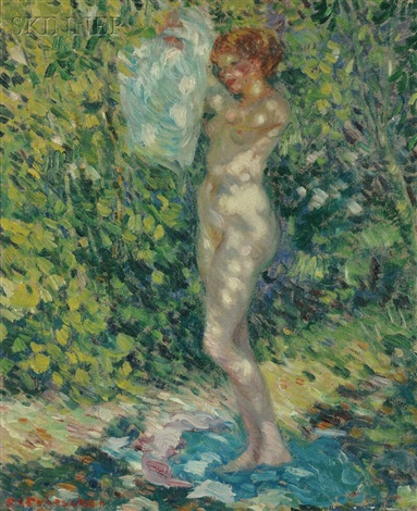 nude giverny by frederick carl frieseke
