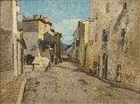 rue à lourmarin (vaucluse) by paul camille guigou