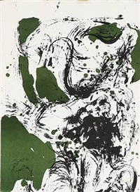 composition in green and black (from the jubilee series) by asger jorn