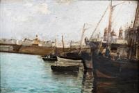 barcos (puerto de cádiz) by federico godoy y castro