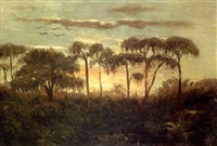 swamp scene (attakapas region?) by american school-louisiana (19)