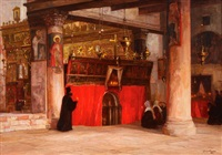church of the nativity, bethlehem by georg macco