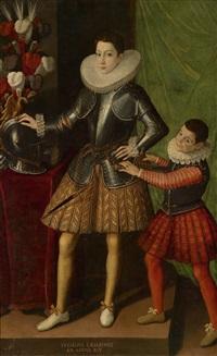porträt von giuliano ii. cesarini im alter von 14 jahren mit einem pagen by sofonisba anguissola