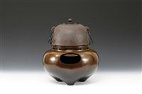 tea kettle (+ brazier; 2 pieces) by sotatsu ichinose