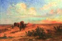 caravane dans le désert by louis françois cabanes