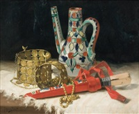 nature morte à la poterie de fez by paul gagneux
