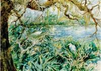 sentinels, florida herons by alice scott