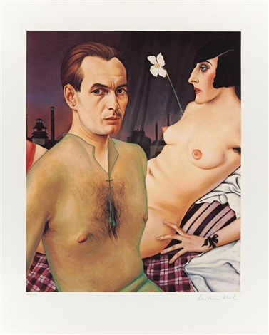 selbstbildnis by christian schad