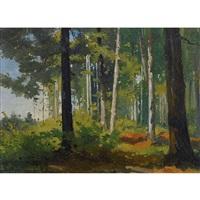 forêt de sapin by auguste bachelin