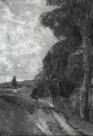weg mit hohen birken by gertrud staats