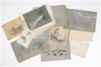 assorted sketches (25 works) by benjamin champney