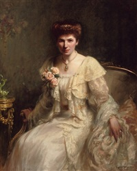 portrait of mrs haslam by hugh de twenebrokes glazebrook