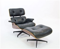 eames 670 armchair and ottoman (2 works) by herman miller