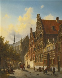 the weeshuis in leiden by jacques françois carabain