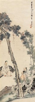 高士图 (three hermits under the pine) by wang su