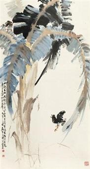 芭蕉雀喧 by huang leisheng