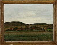 landscape from lohmen near dresden by fritz (georg urban f.) jürgensen