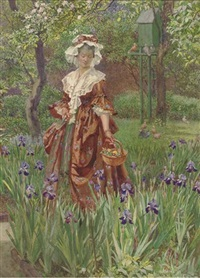 wandering through the irises by eleanor fortescue-brickdale