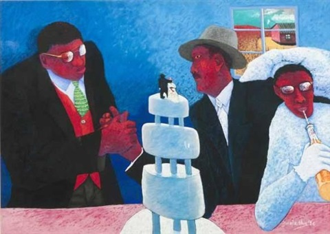 the wedding party by zwelethu mthethwa