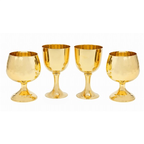pure gold cup for brandy and wine 4 pieces