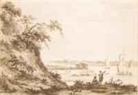 flußlandschaft (van de rheemschen berg oder de betuwe van gelderland te zien) by paul van liender