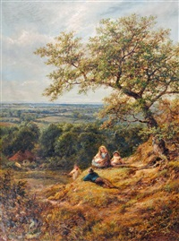 A Family Resting near Arundel, Sussex, 1875