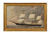 portrait of the extreme clipper ship stag hound by american school (19)
