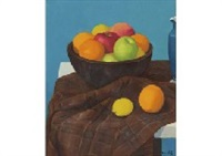 fruits in wooden pot by hirohide hashimoto