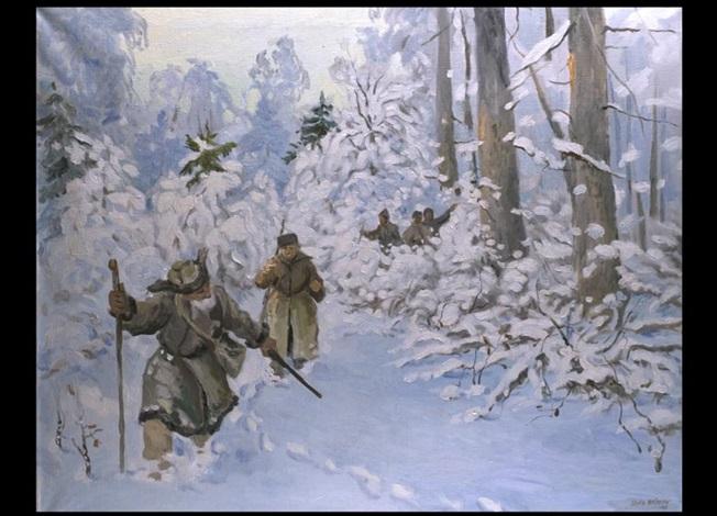 jäger im schnee by stas blinov
