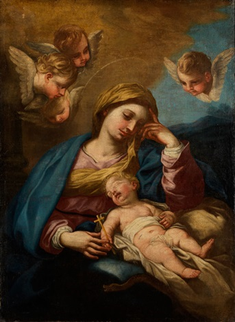 maria mit dem schlafenden jesuskind by carlo maratta