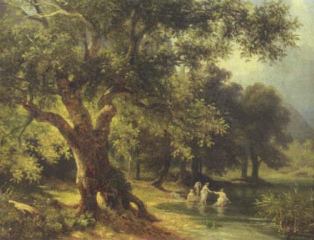 bagnanti al fiume by massimo dazeglio