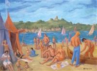 scène de plage by henri-armand-georges jeanpierre