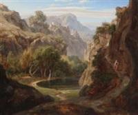 italienische gebirgslandschaft by eduard wilhelm pose
