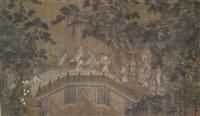 feine und seltene malerei von unsterblichen beim überqueren einer brücke by anonymous-chinese (15)