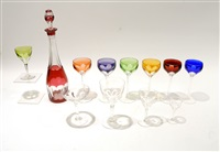 service de verres (set of 71) by val saint-lambert