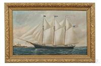 portrait of the schooner herald of new york by william pierce stubbs