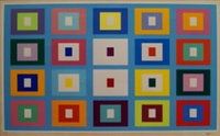 untitled square composition by yaacov agam