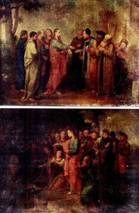 tribute to caesar (+ the raising of lazarus; pair) by konrad huber von weissenhorn
