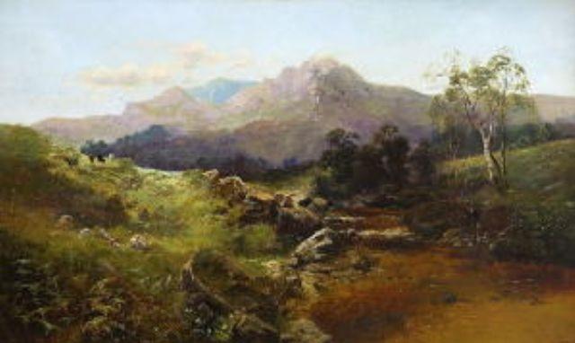 schottische gebirgslandschaft by c austin