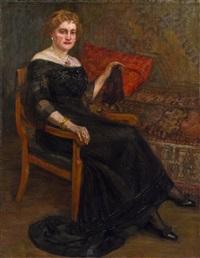 porträt einer dame by wilhelm thöny