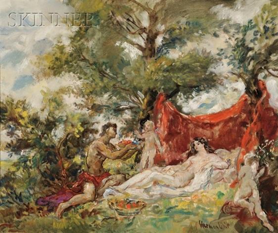 venus and cupid by lipót herman