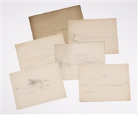 views of chocorua (6 works) by benjamin champney