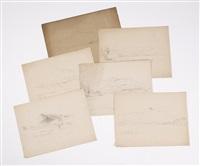 views of chocorua (6 works) by benjamin champney