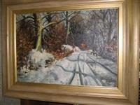 winter landscape by adolf hoffmeister