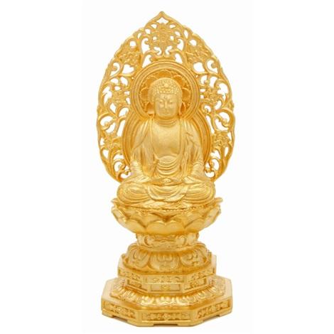 pure gold figure of sakyamuni by kiun funatani