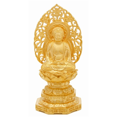 pure gold figure of sakyamuni