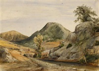 in den albaner bergen by andreas achenbach