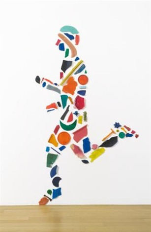 runner in 63 parts by tony cragg