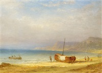 fischerboote an der küste auf capri (?) by carl morgenstern